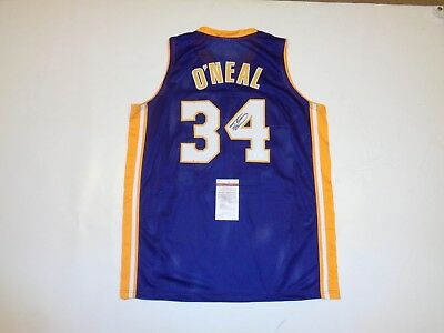 SHAQUILLE O'NEAL signed autographed Lakers purple Jersey JSA Witness