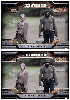 2x ALLEGIANCE SERIES 2 DUST CAROL & TYREESE Walking Dead Card Trader Digital
