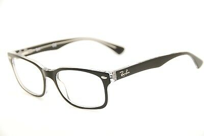 7520a646e52 New Authentic Ray Ban RB 5286 2034 Black Transparent 51mm Eyeglasses Frames  RX