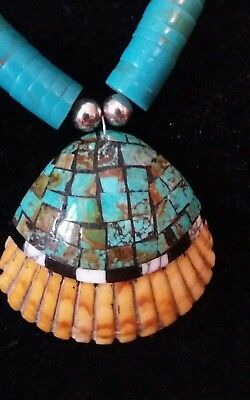 Vintage Santo Domingo Mosaic Shell Wearing Art