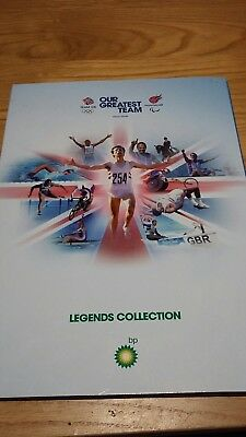 BP Legends Collection. Olympics. Paralympics. London 2012. Medal Coin Collection