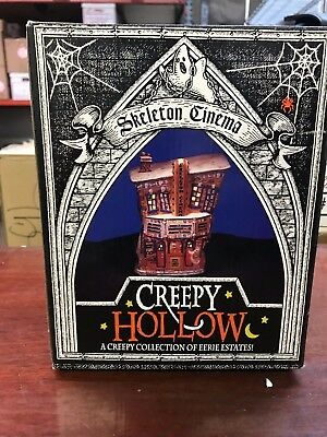 Creepy Hollow Skeleton Cinema Halloween Village Midwest of Cannon Falls mint