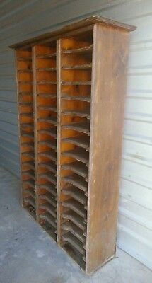 Pine Railroad Station Or Office 48 Slot File Cabinet