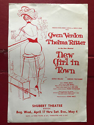 """New Girl in Town"" – Shubert Theatre Boston – Apr 17––May 4 – Pre Broadway flyer"