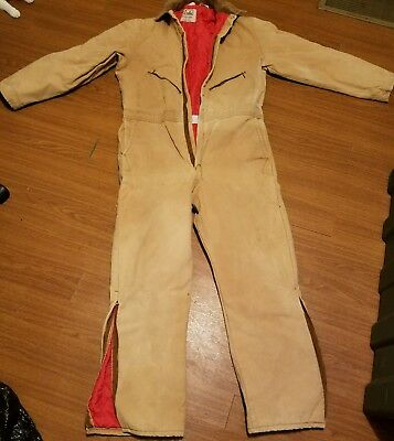 Walls Blizzard Pruf Coveralls Insulated Hunting Suit XL reg. mens brown