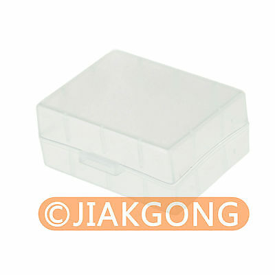 White Hard Plastic Case Holder Storage Box for Battery NP-FW50 NP-FV50......