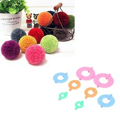 8pcs (4 Sizes) Pom Pom Fluffy Ball Maker DIY Craft Knitting Needle Weaver New