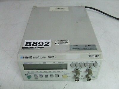 Fluke / Philips PM6665 / 036 120 MHz Counter / Timer *Tested & Working*