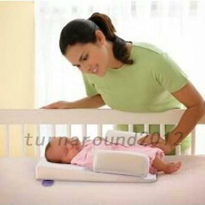 Solid Newborn Baby Head Back Anti Spit Milk Roll Sleep Mat Positioners Pillow