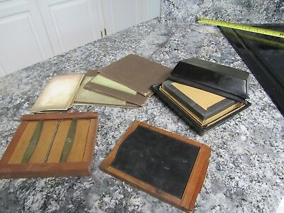 VINTAGE Wood Glass Plate / Film Negative Holder, Negatives, Black Box & More
