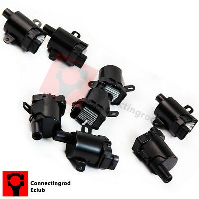 Set of 8 Round Ignition Coils on Plug Pack For Cadillac Buick Chevy Isuzu GMC V8