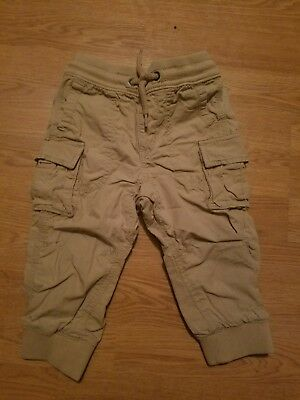 GAP Baby / Toddler Boy 18-24 Months Jersey-Lined Slim Pull-On Cargo Pants