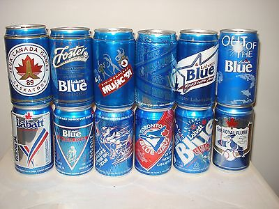 Labatt Blue Canada - Special Event / Theme Canadian cans - Lot of 12