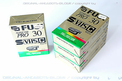 8 x Fuji S-Pro se-c30n Super VHS Pro 30 VIDEO CASSETTE TAPE! NOS! MC73