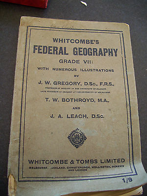 Whitcombe's Federal Geography Grade 8 School Text Book VINTAGE