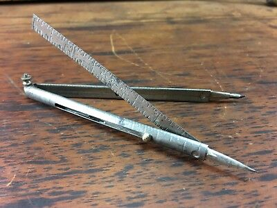 FASCINATING ANTIQUE c.1920's MULTI-TOOL PEN RULER COMPASS KNIFE PATENT PENDING