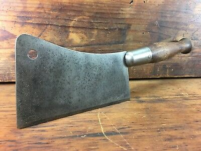 Rare Vintage Knapp & Cowles Butchers Meat Cleaver Chopper Usa Made