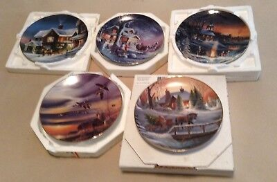 Terry Redlin Collector Plates ! Lot Of 5 Different ! Nice !
