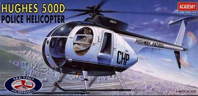 Academy 1/48 Hughes 500D Police Helicopter 12249 Brand New
