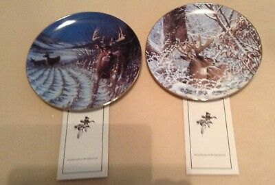 2 Collector Plates By Michael Sieve !both From The Survival Series !