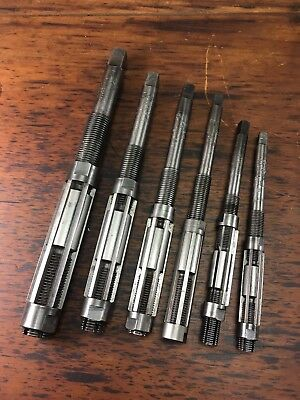 Set X6 Sutton S.t. & G Microset Adjustable Reamers Size G To Size A