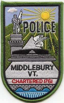 Middlebury Vermont Vt Police Patch