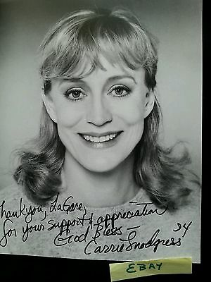 Carrie Snodgress 94 Vintage Nice Appeal Actress AUTO  S G Photo