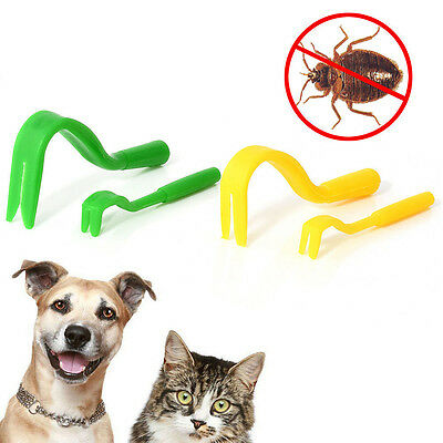 NEW 4Pcs Pack x 2 Sizes Tick Remover Hook Tool Human/Dog/Puppy/Pet/Horse/Cat