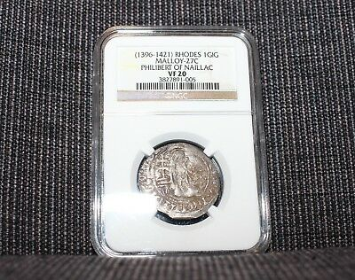 NGC certified Crusader coin Knights of St John Rhodes