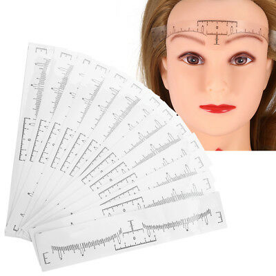 50pcs/Set Disposable Eyebrow Ruler Sticker Microblading Makeup Measuring Kit js