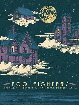 Foo Fighters Poster Knoxville Tennessee SOLD OUT! Status Serigraph