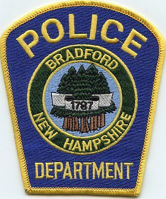 Bradford New Hampshire Nh Police Patch