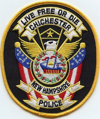 CHICHESTER NEW HAMPSHIRE NH Live Free or Die POLICE PATCH