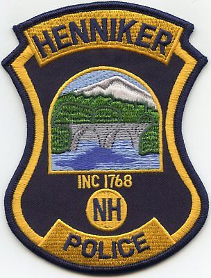 Henniker New Hampshire Nh Police Patch