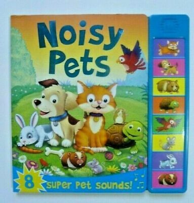 Noisy Vehicle 8 Sounds book Babies 6months+ train car fire-engine sounds New!!