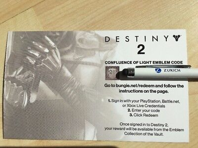 Destiny 2 Emblem Code Confluence of Light von Gamescom 2017!! Rare Emblem!!!!
