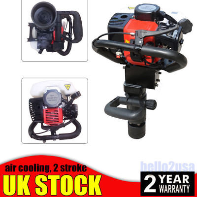 2Stroke Gasoline Pile driver For Fencing Star picket Post Stake Pipe driving UK