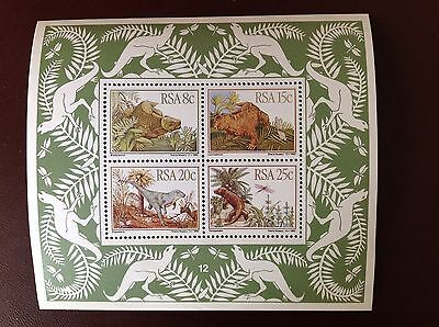 South Africa 1982 Prehistoric Animals Minisheet MNH