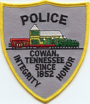 COWAN TENNESSEE TN Integrity Honor TRAIN POLICE PATCH