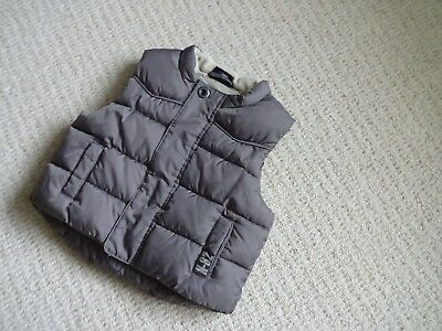 "Child's Gilet ""next"" Size 6-9 Months Excellent Condition Colour Beige/brown Used"