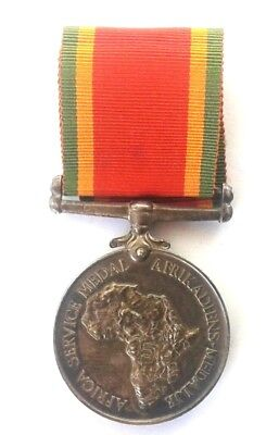 Africa Service Medal Issued to ACF W C Grundell #KCS