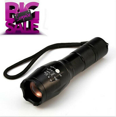 Super Bright E17 CREE XML T6 5000LM Zoomable Torch LED Flashlight Lamp Light Hot