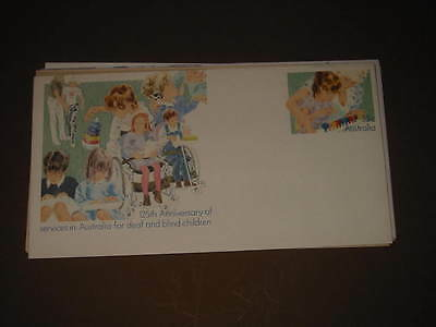 Australian Prepaid envelope 125th deaf and blind children 33c postage (440) mint