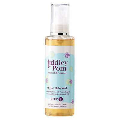 Tiddley Pom Organic Baby Wash 200ml With Lavender & Chamomile Oils Damage Box