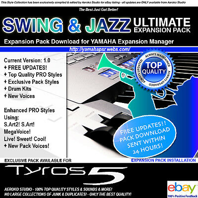 ULTIMATE SWING & JAZZ 2017 Expansion Pack Styles/Voices for YEM TYROS-5