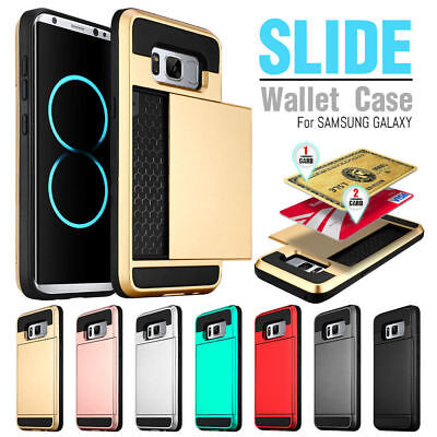 lowest price d7710 ebaad CREDIT CARD HOLDER Shockproof Wallet Case Cover For Samsung Galaxy S7 /  Edge S8