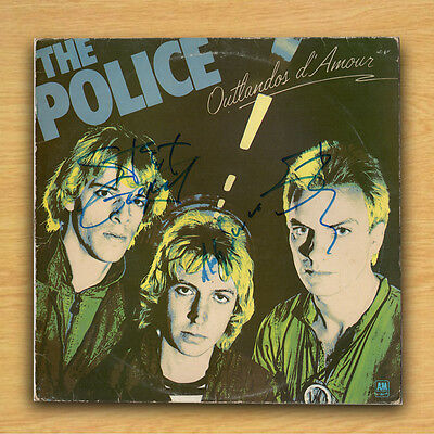 "Genuine Record 12"" Record Sleeve / The Police Outlandos d'Amour with COA"