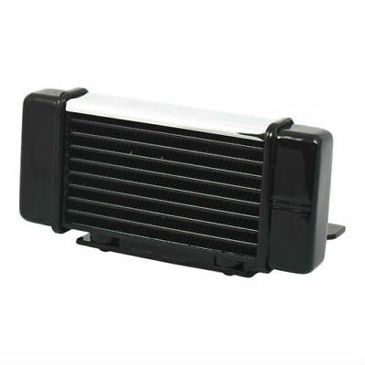 Jagg Horizontal Oil Cooler 10-Row In Black Low Mount For 84-08 Touring 750-2300