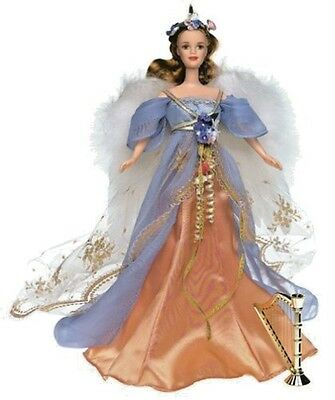 Harpist Angel Barbie Doll Collector Edition 1997 Angels Of Music Collection New