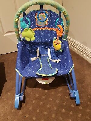 fisher price link a doo rocking baby chair